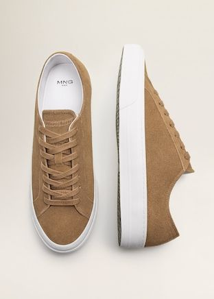 Lace-up suede sneakers - Men | Mango