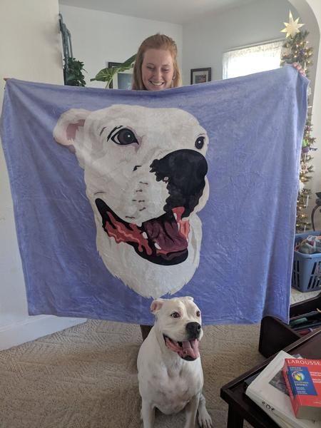 Custom Pet Print Fleece Blanket Fleece Blanket Puppy Beds Customized Fleece Blanket