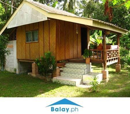 Simple House Design Half Cement Half Wood In 2020 Wood House Design Bamboo House Design Concrete Houses