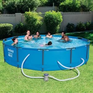 Intex 16 Ft X 8 Ft X 42 In D Rectangular Metal Frame Above Ground Pool 26791eh The Home Depot Deep Above Ground Pools In Ground Pools Above Ground Swimming Pools