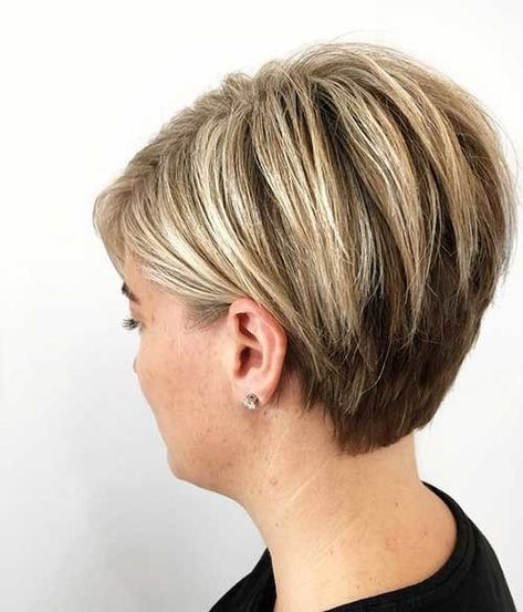 Layered-Short-Hair Chic Short Haircuts for Women Over 50