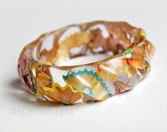 Resin Bangle Bracelet Etsy With