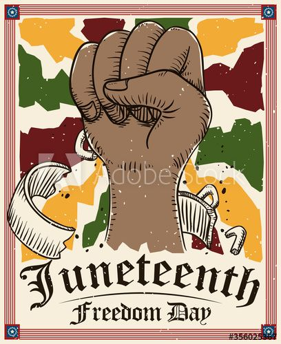 Fist Up Drawing And Frame Celebrate Juneteenth Or Freedom Day Vector Illustration Vector Illustration Drawings Illustration