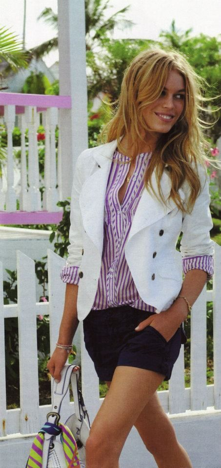 Cute blazer + shorts