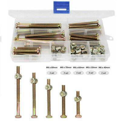 Sponsored Ebay Socket Head Screws Bolts Furniture Baby Bed Crib Hardware Replacement Kit In 2020 Screws And Bolts Cribs Baby Bed