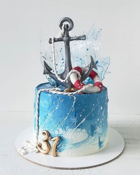ave you been on a cruise? What is your favorite cruise line? Repost from . Nautical Birthday Cakes, Nautical Cake, Birthday Cakes For Men, Ocean Cakes, Beach Cakes, Cupcakes, Beautiful Cakes, Amazing Cakes, Sailor Cake