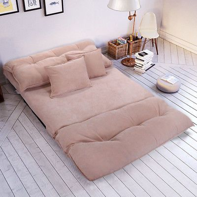 Soft Corduroy Floor Sofa Bed Folding Convertiable Lounge Couch With Pillows Pink Ebay Sofa Bed Sale Modern Sofa Bed Floor Lounging