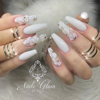 Coffin nails are becoming the hottest manicure trend right now ,which is going nowhere rapidly, this style needs long nails to allow filing both sides and make