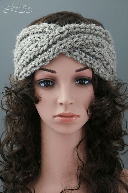 Knitted Twisted Headband Pattern Image Collections Knitting