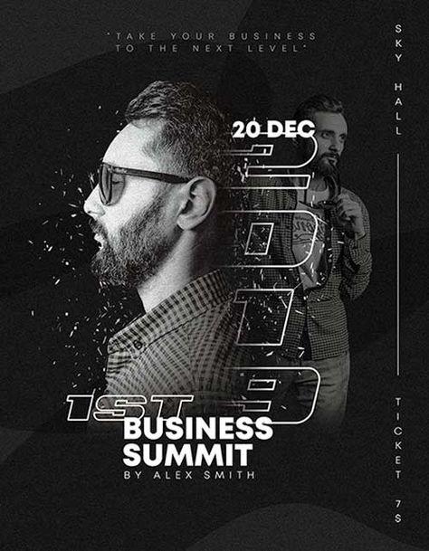 Free Business Summit Flyer Template - Freebie   FreePSDFlyer