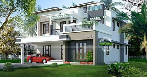 5 Bedroom Contemporary Home In 9 Cent Land In 2020 Modern Bungalow House Design Kerala House Design Modern Bungalow House Plans