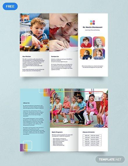 Free Kindergarten Brochure Free Brochure Template Kids