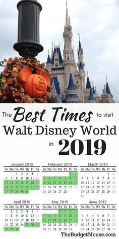 The Best Time To Go To Disney World Printable 2018 2019 Calendar The Frugal South Best Dates And Time Disney World Vacation Disney World Trip Disney World