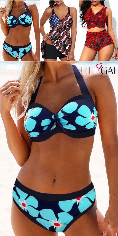 Boho Print Summer Swimsuits For Women 2019