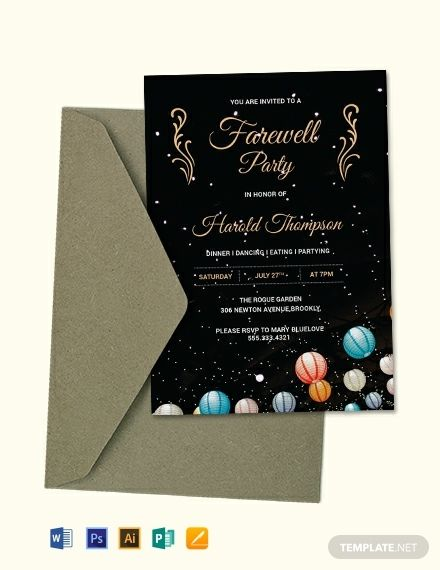 Free Farewell Party Invitation Party Invite Template Farewell