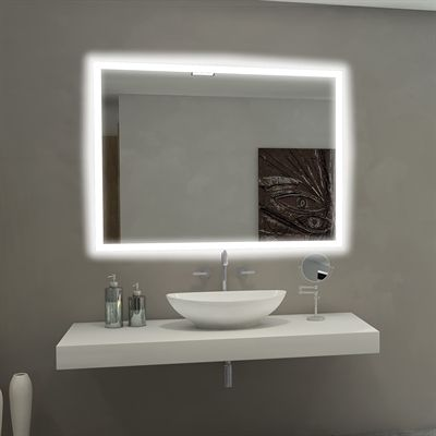 Shop Paris Mirror Backlit Mirror At Lowe S Canada Find Our Selection Of Bathroom M Bathroom Mirror Lights Bathroom Mirror Design Led Mirror Bathroom