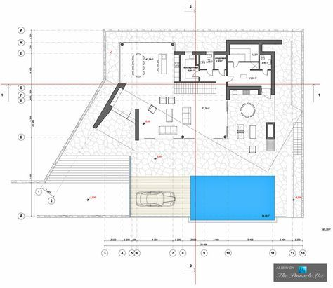 Floor Plan Villa V Luxury Residence Sochi Krasnodar Krai Russia Layout Architecture Contemporary House Sochi