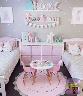 ارقى تصميمات وديكورات غرف نوم اطفال بنات 2021 Pink Room Decor Shared Girls Room Girl Bedroom Decor
