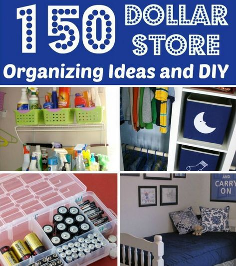 DIY & Crafts: 150 Dollar Store Organization Ideas And Projects For The Entire Home