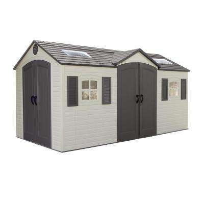 Installed 15 Ft X 8 Ft Double Door Storage Plastic Shed Plastic Sheds Outdoor Storage Sheds Plastic Storage Sheds