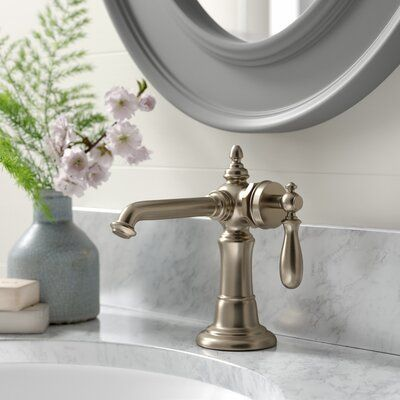 Kohler Artifacts Single Hole Bathroom Faucet With Drain Assembly