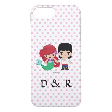 Ariel And Prince Eric Emoji His Hers Initials Case Mate Iphone Case Zazzle Com Prince Eric Disney Emoji Emoji Gifts
