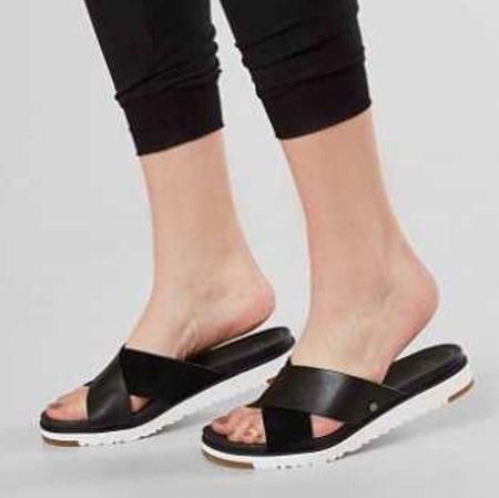 UGG Kari Strappy Slide Sandal in Black