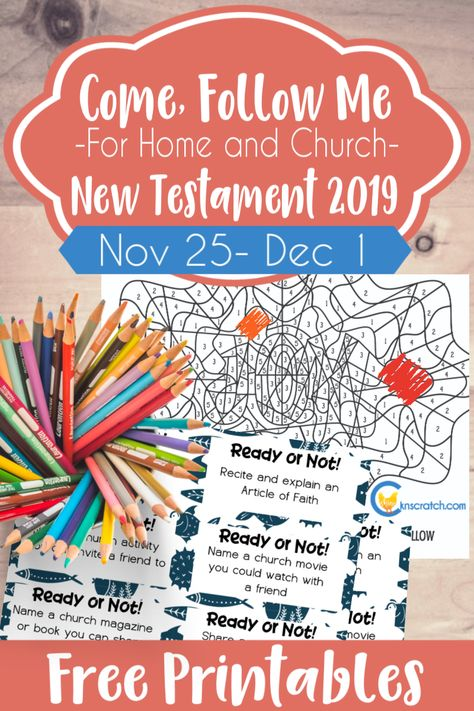 """Great ideas, free printables, and study helps for 1 and 2 Peter """"Rejoice with Joy Unspeakable and Full of Glory"""" (November 25- December 1) #teachlikeachicken #ComeFollowMe #LatterdaySaints"""