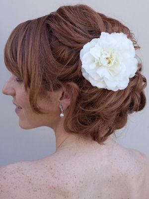 Camellia Hair Flower by Hair Comes the Bride  www.HairComestheBride.com