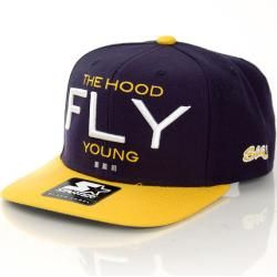 Streetz Iz Watchin Fly Young Snapback Navy Yellow StarterStarter