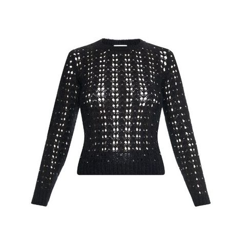 bb8a7970ad7 SAINT LAURENT Crystal-embellished mohair-blend sweater (1,935 CAD) ❤ liked  on Polyvore