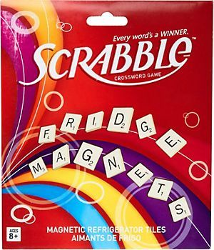 Scrabble Magnets - everyone's favorite word game now as magnets! Great for an on-going fridge game for quick mornings and lunch breaks in the kitchen or office. $12.95