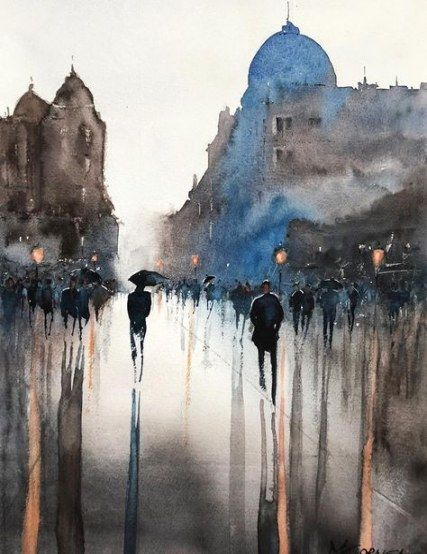 Best Watercolor Art Rain Artists Ideas Art Watercolor Landscape