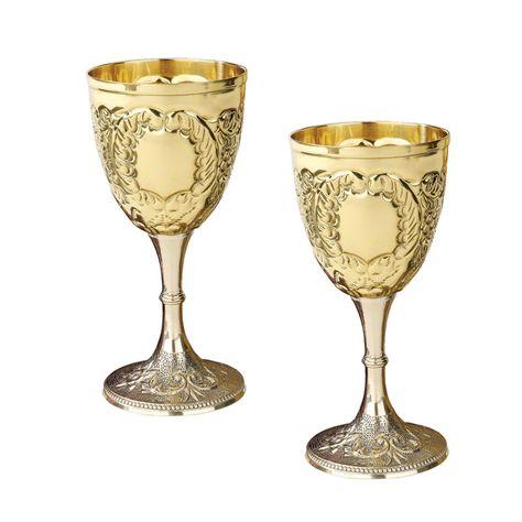 Design Toscano Grape Harvest Solid Brass Goblet