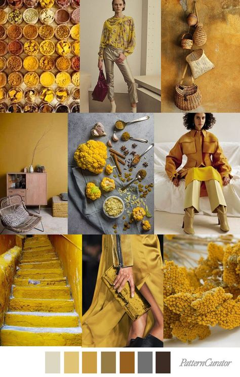 CURRY SPICE CURRY SPICE - color, print & pattern trend inspiration for Fall 2019 by Pattern Curator. Pattern Curator is a trend service for color, print and pattern inspiration.