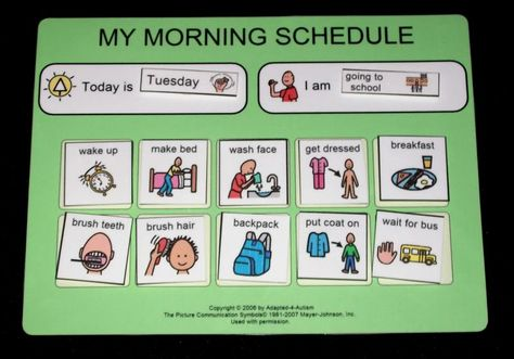 make bed pictures for autism   School Morning Daily Schedule~Routine~ADHD~organization   eBay