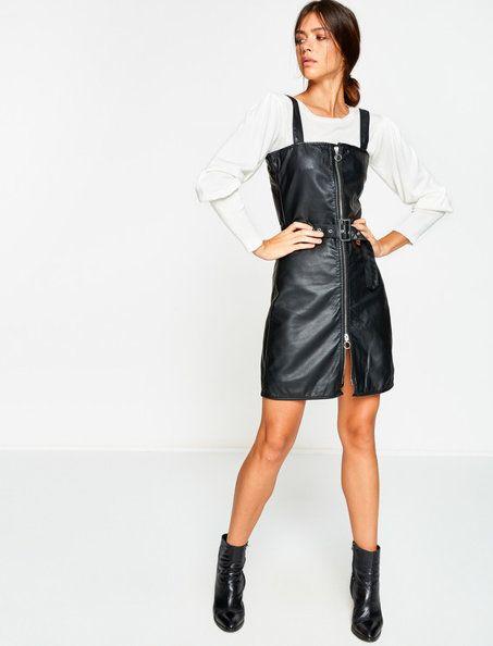 Deri Gorunumlu Elbise Elbise Giyim Elbise Modelleri