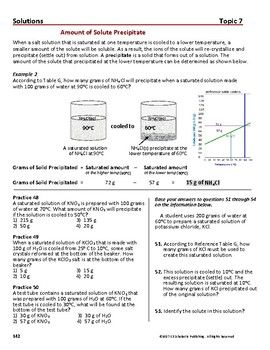 Types Of Solutions Saturated Solubility Curves Essential Skills