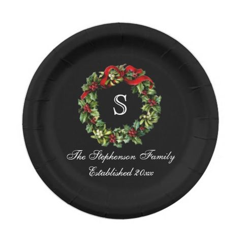 Create Your Own Paper Plate Zazzle Com Christmas Paper Plates Paper Plates Christmas Dinnerware