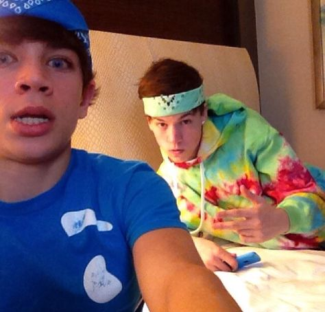 Taylor Caniff and Hayes Grier
