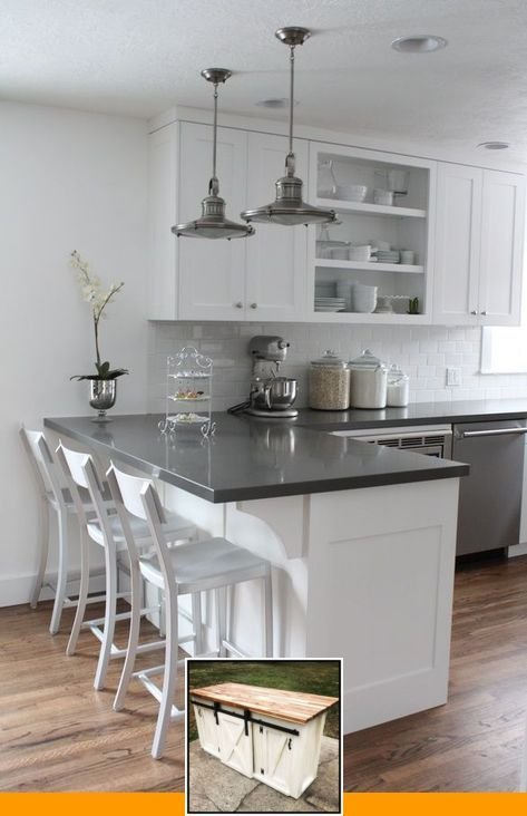 Trending Kitchen Island Lights And For Kitchen Island With Seating Pinterest In 2020 New Kitchen Cabinets New Kitchen Kitchen Layout