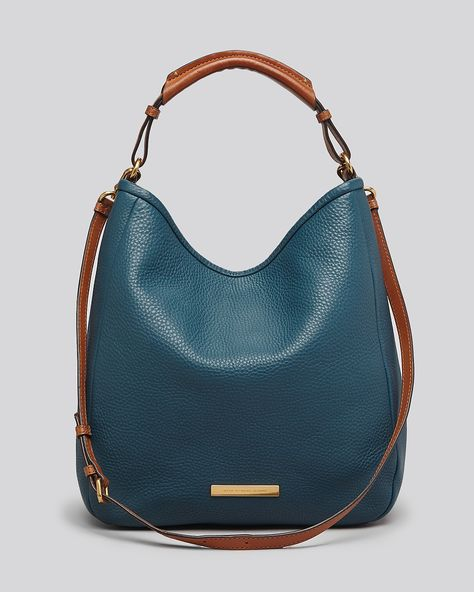 NWT MARC BY MARC JACOBS $468 SOFTY SADDLE LARGE HOBO BAG IN PRUSSIAN blue TEAL