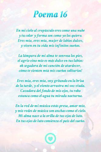 Poema 16 Pablo Neruda Poemas De Neruda Poemas Inspiradores Poemas