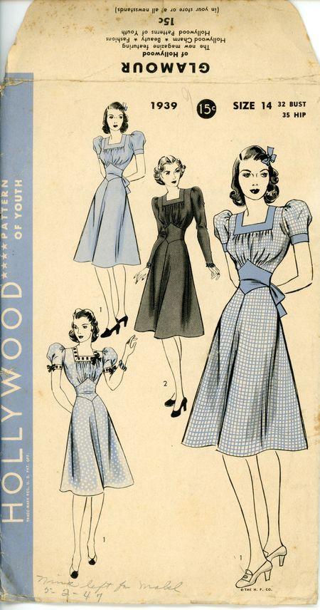 Hollywood 1939 In 2020 Vintage Midi Dresses Vintage Outfits Vintage Dress Patterns