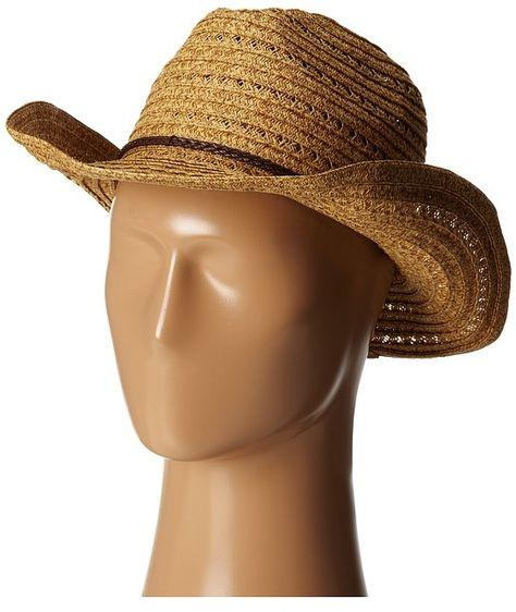 8057220e93730 San Diego Hat Company PBC1034 Open Weave Cowboy Hat w  Braided Trim  Traditional Hats