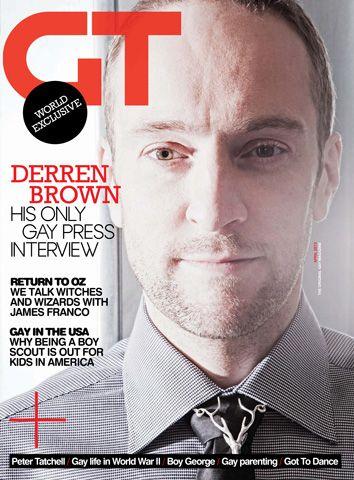 Gay Times - Derren Brown April 13