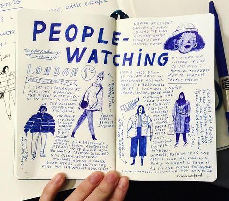 The art of creeping 🔎👀✏ - - - - #peoplewatching #creepingaround #flyonthewall #london #londonfashion #ninacosford #sketchbook #reportage