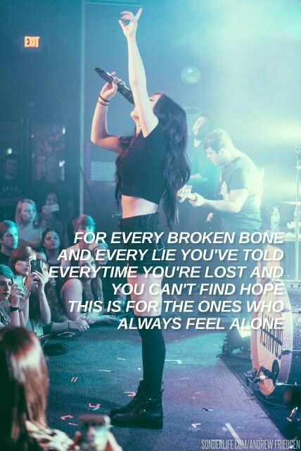 Against The Current Outsiders Song Lyric Quotes Music Lyrics Chrissy Costanza