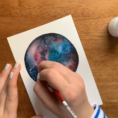 Watercolor techniques that are out of this world 🤩 My new Skillshare class gives you a deep-dive into watercolor galaxies!