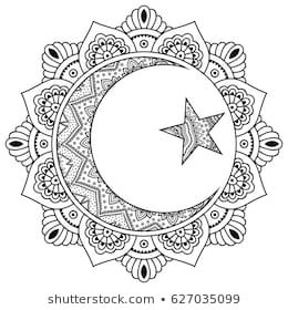 Circular Pattern In Form Of Mandala For Henna Mehndi Tattoo Decoration Decorative Ornament In Ori Boyama Sayfalari Mandala Mandala Dovmesi Boyama Sayfalari